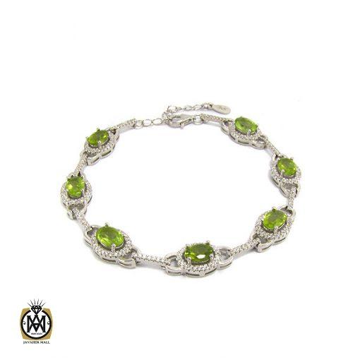 دستبند زبرجد زنانه طرح صدف - کد 1044 - 1 56 510x510