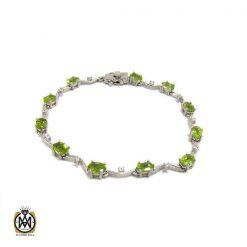 دستبند زبرجد زنانه طرح فلورا - کد 1175 - 1 58 247x247