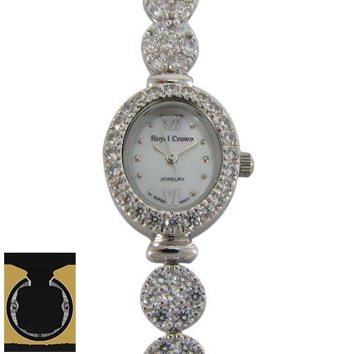 ساعت نقره زنانه رویال کرون – کد ۶۰۰۲
