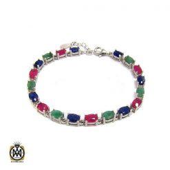 دستبند یاقوت سرخ زنانه خوش رنگ طرح نوژین - کد 1209 - 1 75 247x247