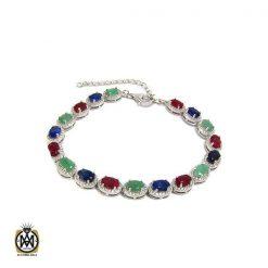دستبند یاقوت سرخ زنانه خوش رنگ طرح نوژین - کد 1209 - 1 77 247x247