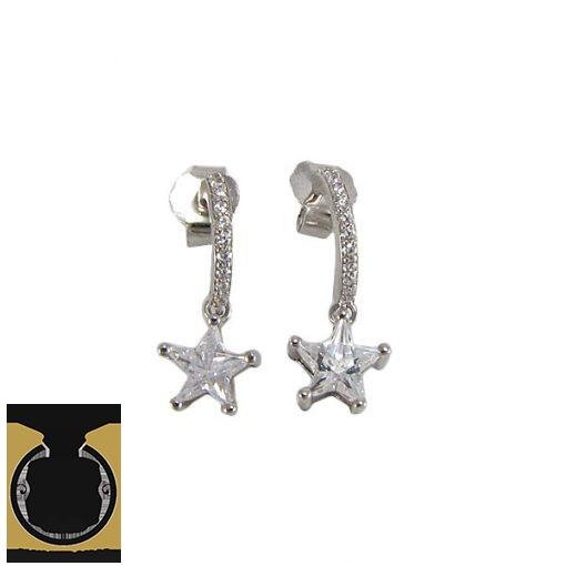 گوشواره نقره زنانه طرح ستاره - کد 5023 - 1 9 510x510