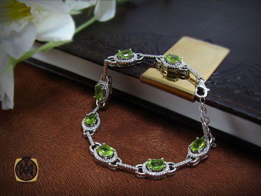 دستبند زبرجد زنانه طرح صدف - کد 1044 - 1044 510x383
