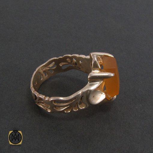 انگشتر عقیق یمن مردانه با حکاکی شرف الشمس - کد 8225 - 2 114 510x510