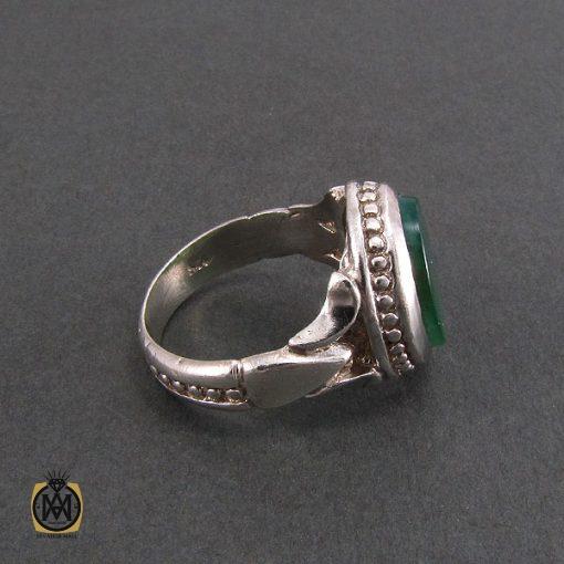 انگشتر عقیق سبز مردانه اصل و خوش رنگ - کد 8313 - 2 227 510x510