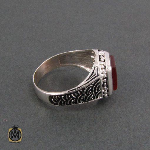 انگشتر عقیق قرمز مردانه - کد 8319 - 2 233 510x510