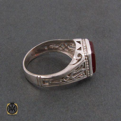 انگشتر عقیق قرمز مردانه - کد 8321 - 2 235 510x510