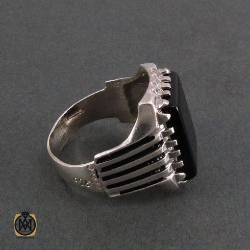 انگشتر عقیق سیاه مردانه اصل و معدنی - کد 8324 - 2 238 510x510