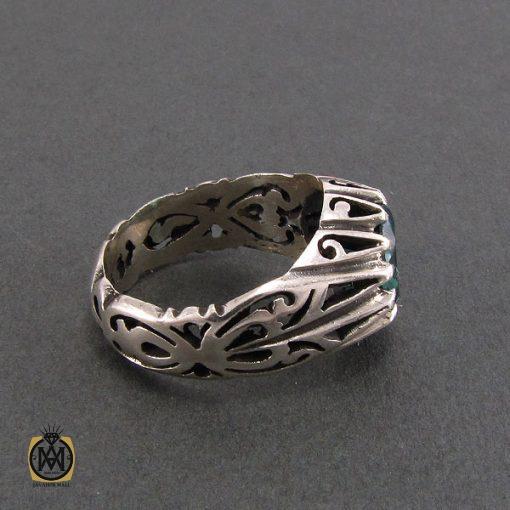انگشتر نقره مردانه با نگین توپاز - کد 8175 - 2 24 510x510