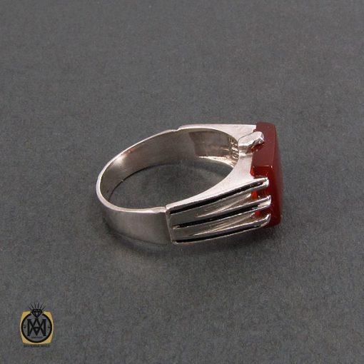 انگشتر عقیق قرمز مردانه - کد 8329 - 2 242 510x510