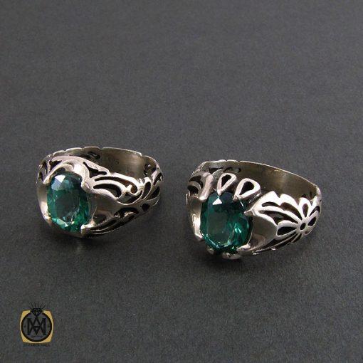 انگشتر توپاز سبز مردانه خوش رنگ و معدنی - کد 8177 - 2 26 510x510