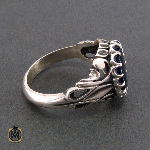 انگشتر نقره مردانه با نگین یاقوت کبود - کد 8179 - 2 28 510x510