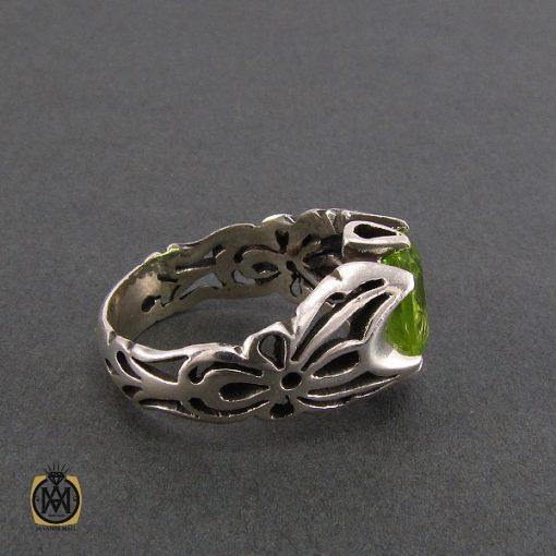 انگشتر نقره مردانه با نگین زبرجد - کد 8186 - 2 35 510x510