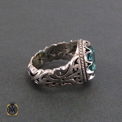 انگشتر نقره مردانه با نگین توپاز - کد 8182 - 2 38 510x510