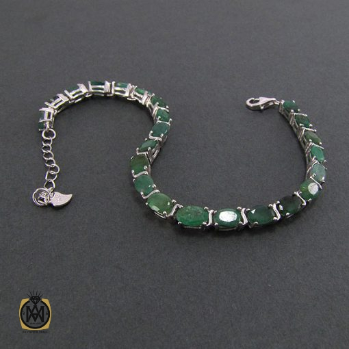 دستبند زمرد زنانه طرح مهسان – کد ۱۰۴۱