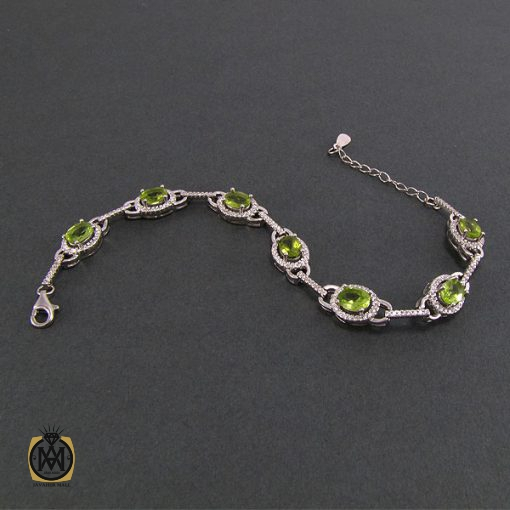 دستبند زبرجد زنانه طرح صدف - کد 1044 - 2 56 510x510