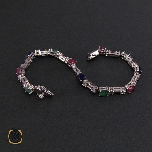 دستبند یاقوت و زمرد زنانه طرح مینو – کد ۱۰۴۸