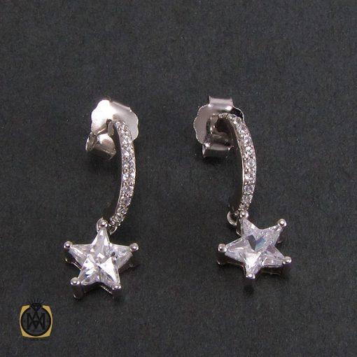 گوشواره نقره زنانه طرح ستاره - کد 5023 - 2 9 510x510