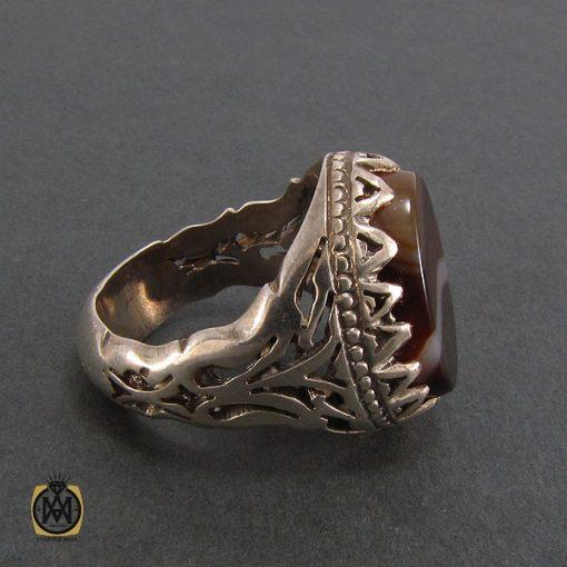 انگشتر عقیق سلیمانی مردانه - کد 8222 - 3 111 510x510