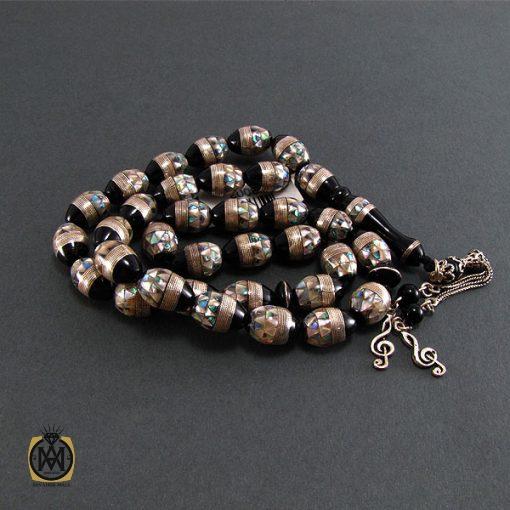 تسبیح یسر ، صدف و نقره 33 دانه لوکس و ارزشمند - کد 4091 - 3 133 510x510
