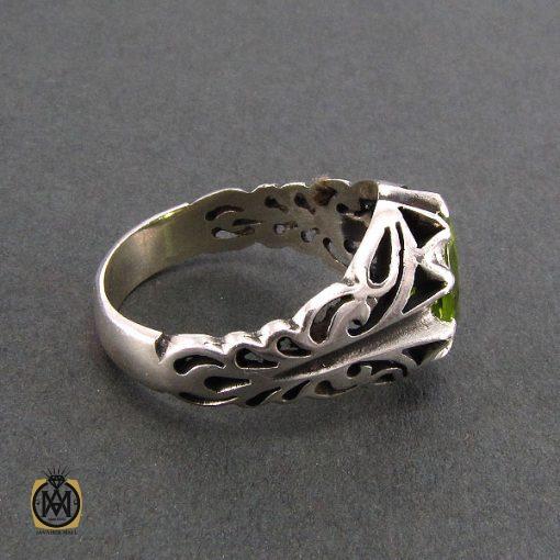 انگشتر نقره مردانه با نگین زبرجد - کد 8172 - 3 22 510x510