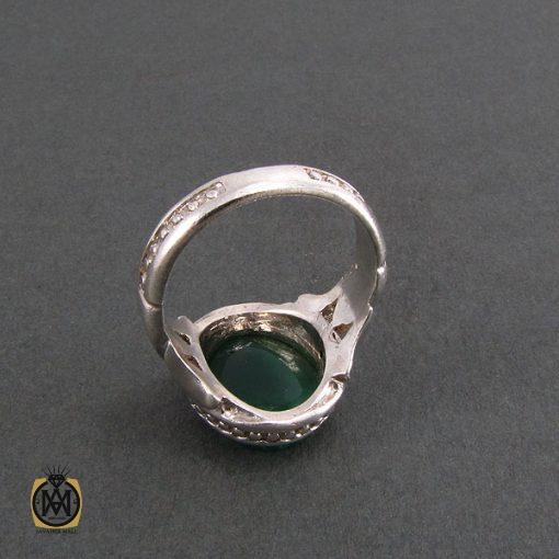 انگشتر عقیق سبز مردانه اصل و خوش رنگ - کد 8313 - 3 228 510x510