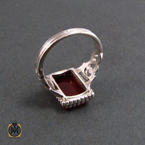 انگشتر عقیق قرمز مردانه - کد 8344 - 3 259 510x510