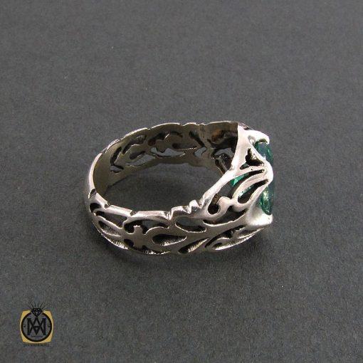 انگشتر توپاز سبز مردانه خوش رنگ و معدنی - کد 8177 - 3 26 510x510