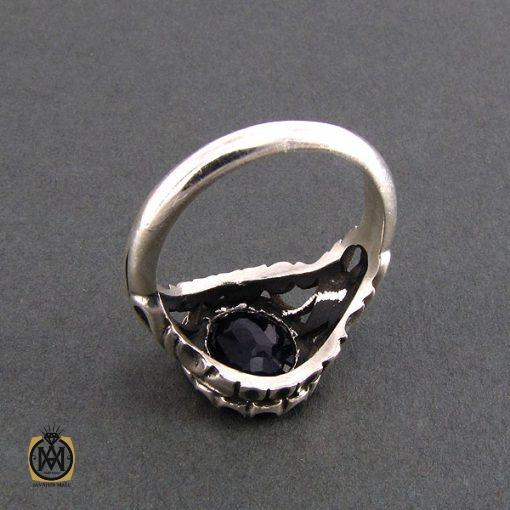 انگشتر نقره مردانه با نگین یاقوت کبود - کد 8179 - 3 28 510x510