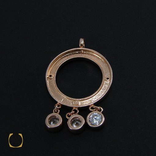 مدال نقره زنانه طرح بولگاری - کد 3042 - 3 292 510x510