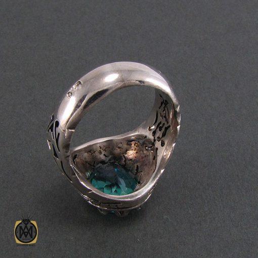 انگشتر نقره مردانه با نگین توپاز – کد ۸۱۸۵