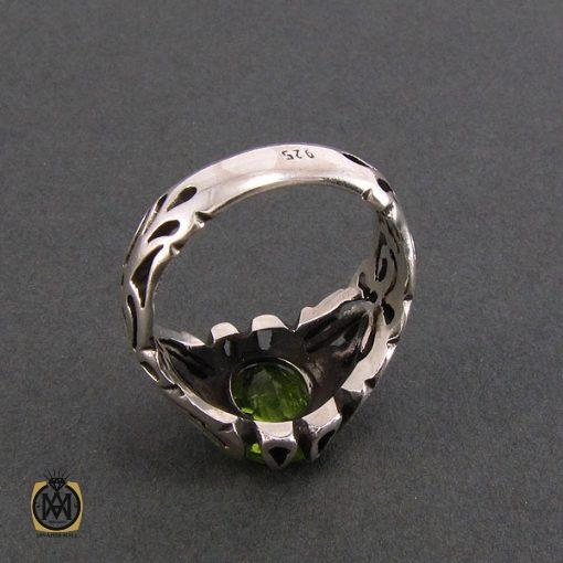 انگشتر نقره مردانه با نگین زبرجد - کد 8186 - 3 35 510x510