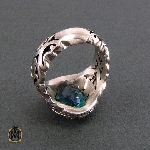 انگشتر نقره مردانه با نگین توپاز - کد 8182 - 3 38 510x510