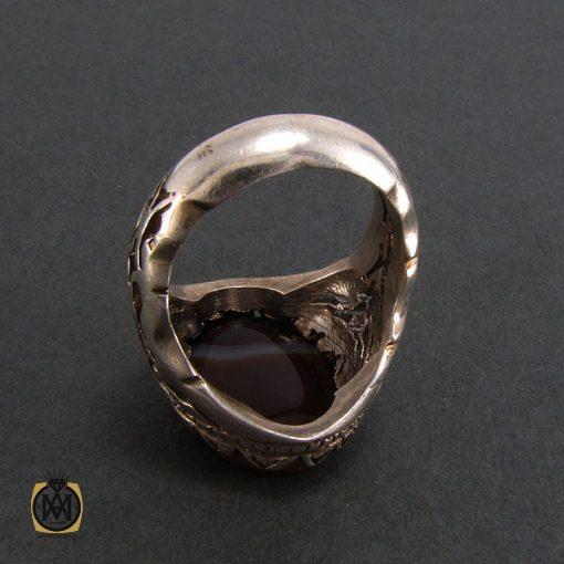 انگشتر عقیق سلیمانی مردانه - کد 8222 - 4 111 510x510