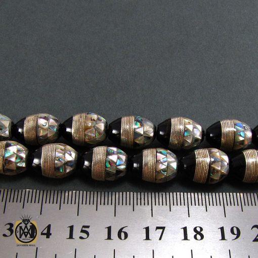 تسبیح یسر ، صدف و نقره 33 دانه لوکس و ارزشمند - کد 4091 - 4 133 510x510
