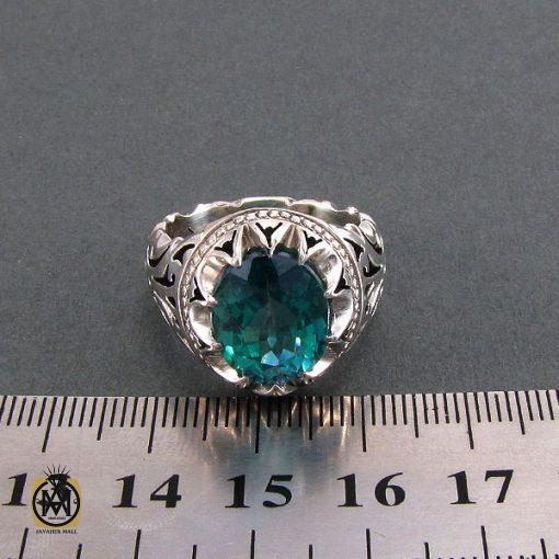 انگشتر نقره مردانه با نگین توپاز - کد 8182 - 4 21 510x510
