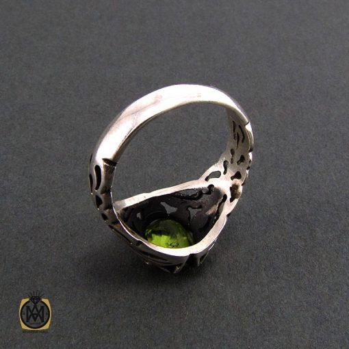 انگشتر نقره مردانه با نگین زبرجد - کد 8172 - 4 22 510x510