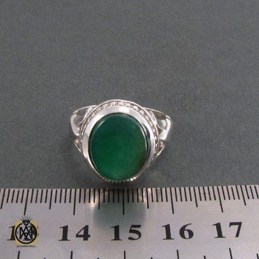 انگشتر عقیق سبز مردانه اصل و خوش رنگ - کد 8313 - 4 229 510x510