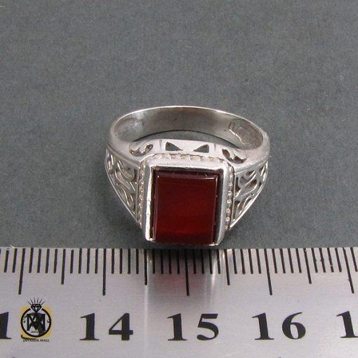 انگشتر عقیق قرمز مردانه - کد 8321 - 4 237 510x510