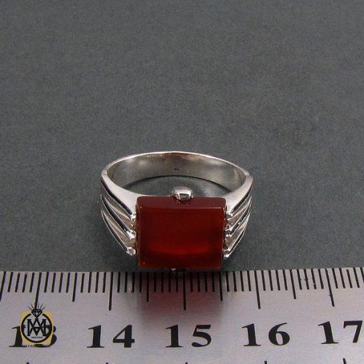 انگشتر عقیق قرمز مردانه - کد 8329 - 4 244 510x510