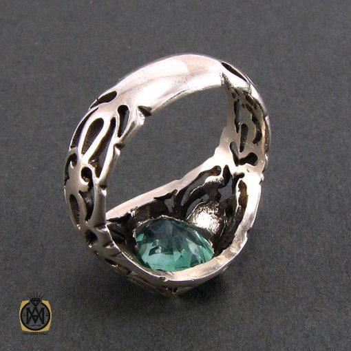 انگشتر توپاز سبز مردانه خوش رنگ و معدنی - کد 8177 - 4 27 510x510