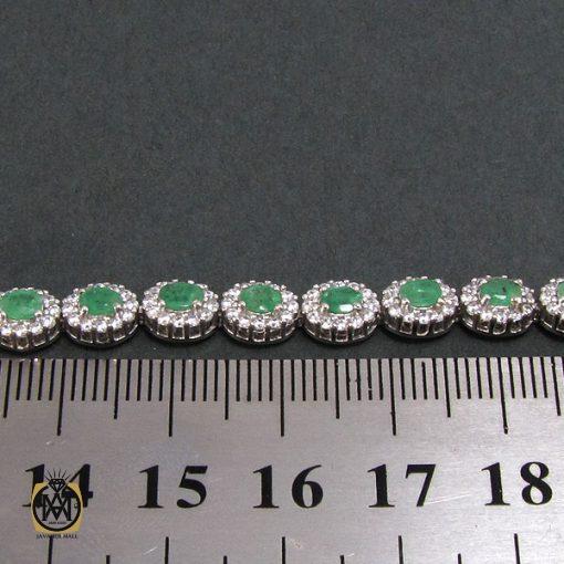 دستبند زمرد زنانه طرح مهين - کد 1047