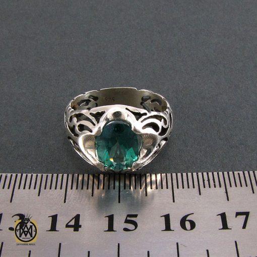 انگشتر توپاز سبز مردانه خوش رنگ و معدنی - کد 8177 - 5 12 510x510