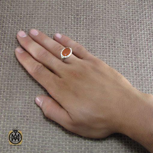 انگشتر عقیق یمن مردانه با حکاکی و من یتق الله - کد 8240 - 5 123 510x510