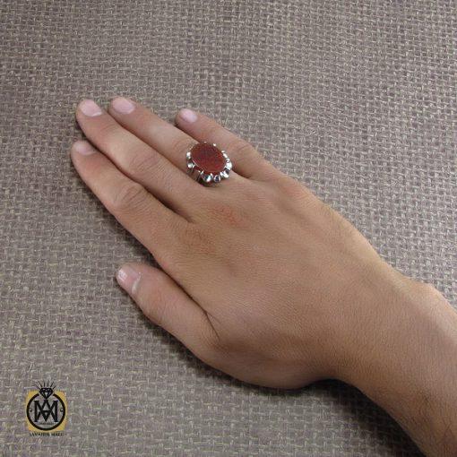 انگشتر عقیق یمن مردانه با حکاکی یا حجه بن الحسن العسکری - کد 8253 - 5 138 510x510