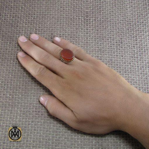 انگشتر عقیق یمن با حکاکی ماشاالله لا قوه الا بالله ان ترن انا اقل منک مالا و ولدا - کد 8268 - 5 153 510x510