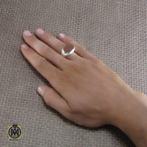 انگشتر عقیق یمن مردانه با حکاکی اشفع لی یا امیرالمومنین - کد 8270 - 5 155 510x510