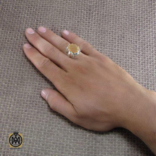 انگشتر عقیق یمن مردانه با حکاکی توکلت علی الله - کد 8272 - 5 157 510x510