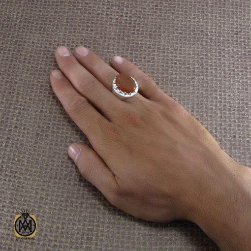 انگشتر عقیق یمن با حکاکی بابی انت و امی یا امیرالمومنین - کد 8284 - 5 171 510x510