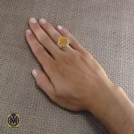 انگشتر عقیق یمن با حکاکی رفع الله رایة العباس - کد 8294 - 5 180 510x510